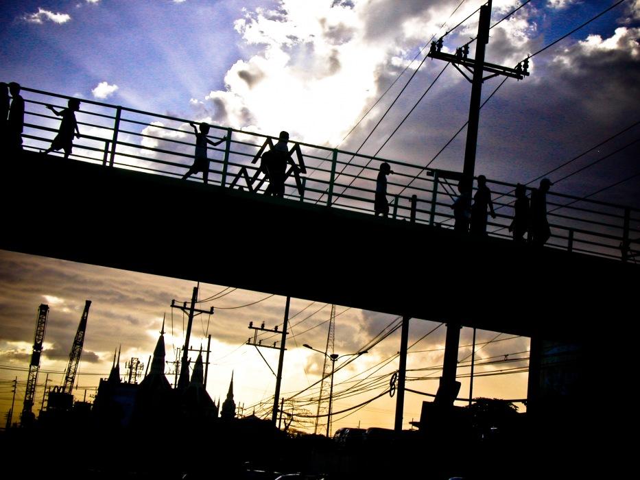 photoblog image Sunset Pedestrians